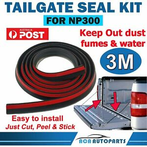 Tailgate Seal Kit for Nissan Navara NP300 UTE Rubber Dust Tail Gate Seal AUSSIE!