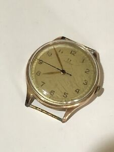 Antique Mens Wind Up Very Old Gold Omega Watch Working!
