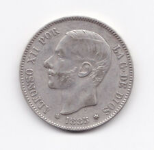 Alfonso XII : :5 Pesetas 1885 ( ) MSM ( bonita reproducción )