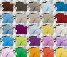 PLAIN DUVET COVER SET WITH PILLOW CASE QUILT COVER IN ALL SIZES.