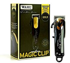 WAHL 5 STAR LIMITED EDITION BLACK & GOLD CORDLESS MAGIC CLIP CLIPPER #8148