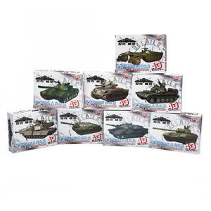1/72 4D 8pcs Assemble Tank 4D Plastic Model Kit The Battle Chariot Series