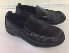 Boys Cole Haan Finley Black Leather-like slip on loafers shoes kids 13 youth
