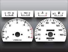 1989-1995 Toyota Hilux 160 METRIC KPH KMH Dash Cluster White Face Gauges