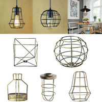 Edison Iron Vintage Lampshade Balloon Ceiling Light Lamp Cage Bar Cafes Fitting