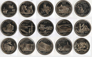 2004 - 2008 State Quarter Set PROOF Coin Collection - San Francisco Mint - AX422