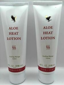 Forever Living Aloe Heat Lotion 118ml ( PACK OF 2 ) - Fast Shipping !!