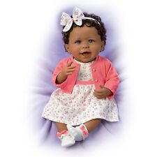 Always Smiling Aisha Poseable Weighted Baby Doll by The Ashton-Drake Galleries