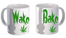 Wake N' Bake Mug Pair 420 Stoner Weed Marijuana Cannabis Hash Funny