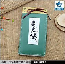 Long style PU wallet/purse cosplay for Japanese Anime Natsume yuujinchou Takashi