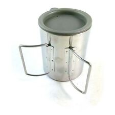 Outdoor Camping Hiking Stainless Steel Mug Cup with Cover 300ML