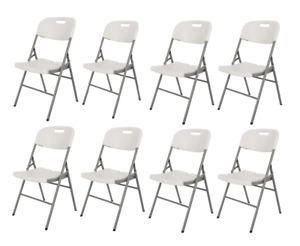 New Folding Camping Chairs Garden Match Table Portable BBQ Picnic Outdoor White