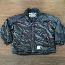 Nautica Jeans Company Active Nylon Windbreaker Jacket Heavy Black N/045
