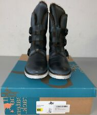 OTBT Women's Black Jack Boot Black Leather Winter Boots 8.5