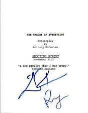 Eddie Redmayne & Felicity Jones Signed THE THEORY OF EVERTHING Script COA VD