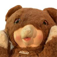 "Sterling Best Ever 16"" Vintage Plush Vinyl Face Teddy Bear EUC Antique Cute Rare"