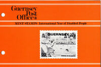 GUERNSEY PRESENTATION PACK MNH 1981 INTERNATIONAL YEAR OF DISABLED PEOPLE