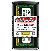 A-Tech 16GB PC4-21300 Laptop SODIMM 260-Pin DDR4 2666 MHz Notebook Memory RAM 1x