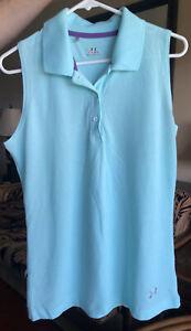 Women's UNDER ARMOUR Heatgear Light Green Sleeveless Top, Size Large