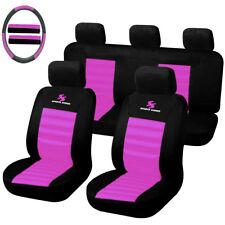 Auto Schonbezug 12-teillige Sitzbezüge für Auto universal schwarz-rosa SCSC0057