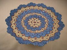 Persian Mina Kari Painted Handmade Fine Art Copper Enamel Plate Wall Hanging