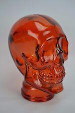 New Glass Skull Mannequin Head Display, Amber Orange - Life Size Spain Halloween