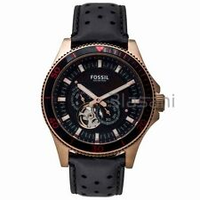 Fossil Original ME3091 Men's Wakefield Black Leather Watch 46mm Automatic