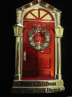 2018 1ST~FIRST CHRISTMAS IN OUR NEW HOME RED DOOR ORNAMENT~EUROPEAN CRYSTALS~NIB