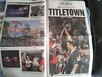 Tampa Bay Times Newspaper SuperBowl 55 Commeritive Edition Superbowl win in hand