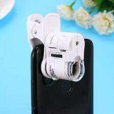 Universal 60X Zoom Micro Camera Clip Lens Microscope w/ LED Light for Cell Phone