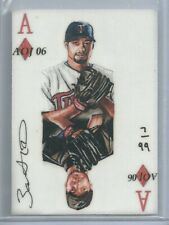 RARE 2006 Roy Halladay Johan Santana AOJ Lithocard Limited 7/99 Blue Jays Twins