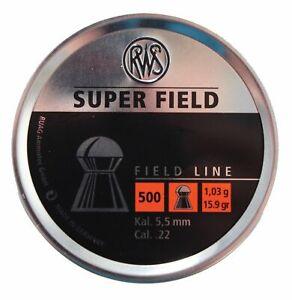 RWS SuperField .22 / 5.52mm Field Line Domed Airgun Pellets - Choose Quantity