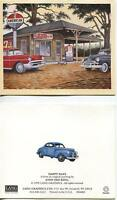 VINTAGE GAS STATION PEPSI COLA SIGN ALABAMA LICENSE PLATES 1950'S CHEVY CAR CARD