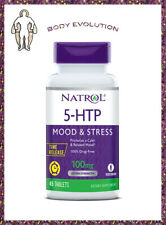 NATROL 5 HTP, Time Release,Vegetarian, Relaxed Mood, Stress Free,100mg. 45 Kaps.