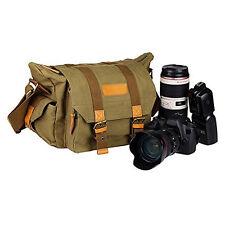 Men's Vintage Canvas DSLR Camera Bag Shoulder Messenger Bags Handbag For Canon