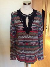 Riani Blouse Top Size 16 BNWT Red Green Beige Black Lace RRP £219 NOW £99