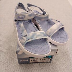 Fila Womens Andros Blue Tie Dye River Strap Sandal Slipper Shoe Size 10