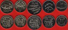 Iceland set of 5 coins: 1 - 100 kronur 1987-2011 UNC