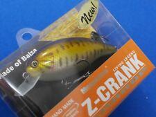 """Megabass Z-CRANK TEAR DROP HAND MADE PRO MODEL BALSA """"SMALL MOUTH BASS"""" NEW (XM1"""