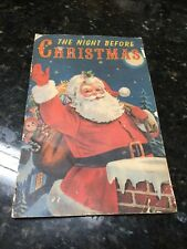 Vintage The Night Before Christmas Book Cannon Line Made In Usa