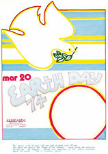 Earth Day - Peace Press - The Equinox - 1974 - Poster