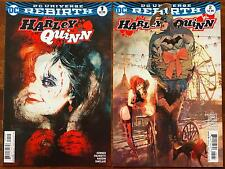 HARLEY QUINN #1 2 BILL SIENKIEWICZ VARIANT COVER SET DC REBIRTH 1ST PRINTS NM