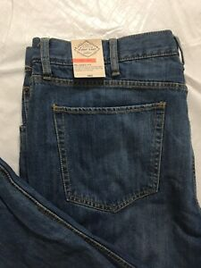 St Johns Bay Relaxed Fit Flannel Lined Jeans Tag Size 42x30 Straight Leg NWT