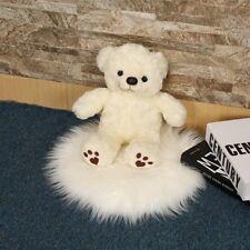 30-90cm Plush Round Carpet Throw Rug Anti-Skid Shaggy Carpet Soft Floor Mats 8SJ