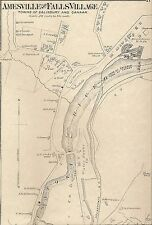 Amesville Salisbury Falls Village CT 1874 Maps with Homeowners Names Shown