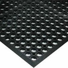 ANTI FATIGUE MATTING Bevelled Edged Safety Mat 12mm thick Rubber 900mm x 3000mm