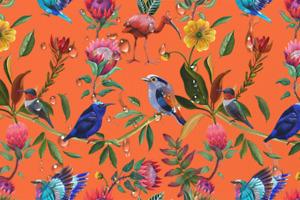 "Waterproof CORDURA fabric ""Tropical"" Pattern #22"