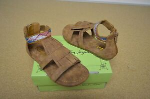 New in Box Sarah Jayne Naviee Brown Girl's Toddler Sandals