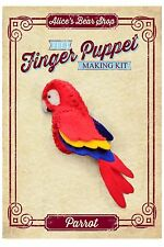 Sewing a Finger Puppet Kit - Scarlet Macaw Parrot - for Morgan Pirate Rag Doll