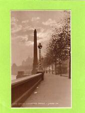 London Cleopatra's Needle Embankment unused  RP pc Judges L266 Ref J244